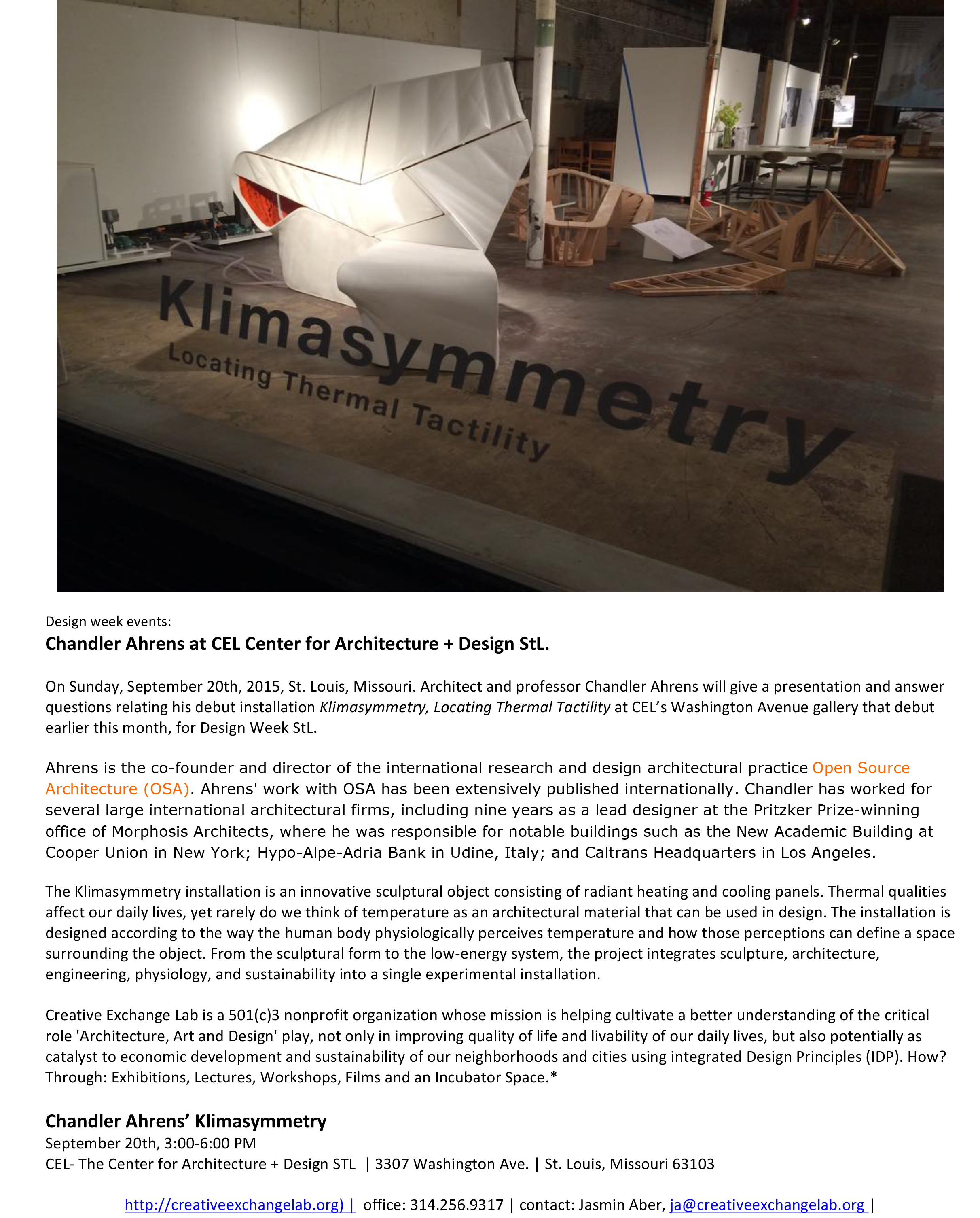 Microsoft Word - Klimasymmetry press release-4 design week x.doc
